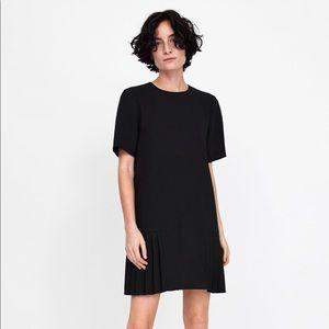Zara Pleated Hem Dress